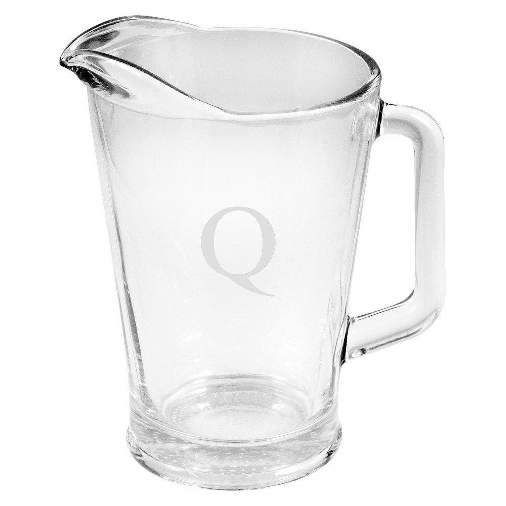 Cathy's Concepts Personalized Monogram Glass Pitcher - Q