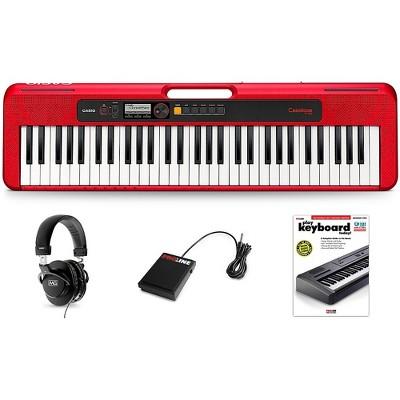 Casio Casiotone CT-S200 Keyboard Essentials Kit Red