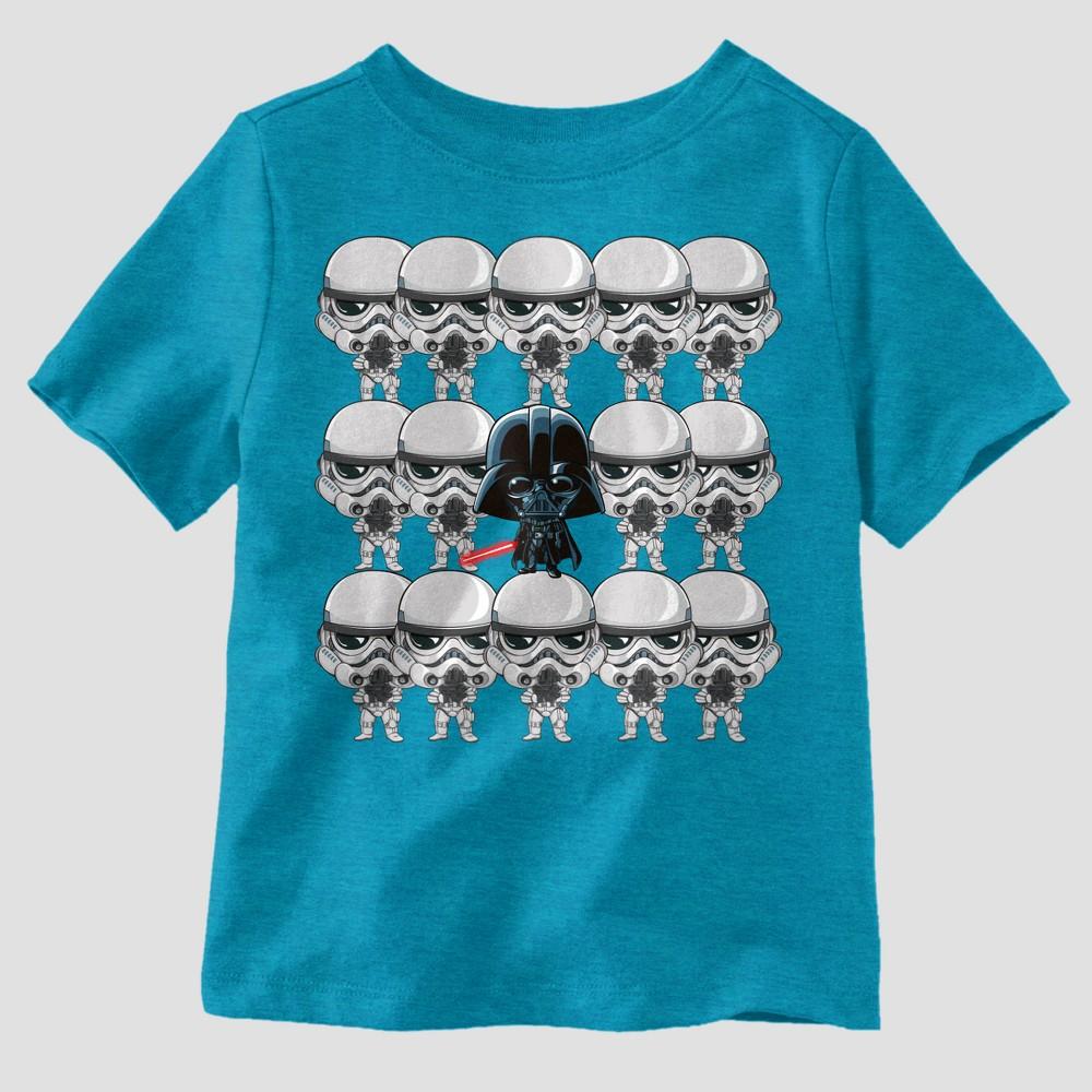Toddler Boys' Star Wars Short Sleeve T-Shirt - Blue 12M