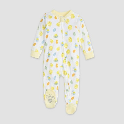 Burt's Bees Baby® Easter Organic Cotton Sleep 'N Play Footed Pajama - Yellow 0-3M