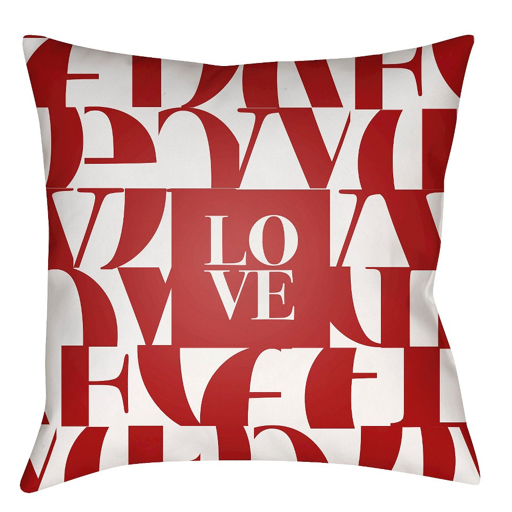 Red Love Throw Pillow 16