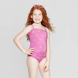 Girls' Rainbow Skies One Piece Swimsuit - Cat & Jack™ Pink