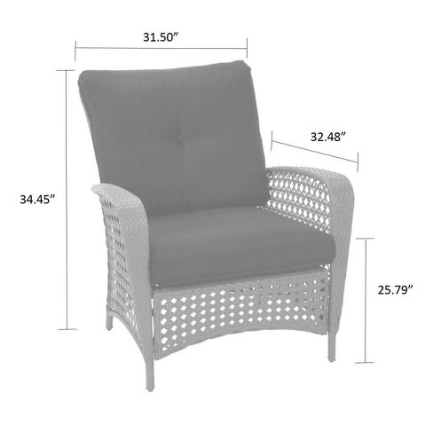 Remarkable Cosco Lakewood Ranch 2Pk Steel Woven Wicker Patio Lounge Chairs Gray And Blue Cjindustries Chair Design For Home Cjindustriesco