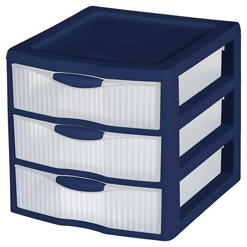 Sterilite® 3 Small Drawer Unit - Nighttime Blue - Room Essentials™ - image 1 of 1