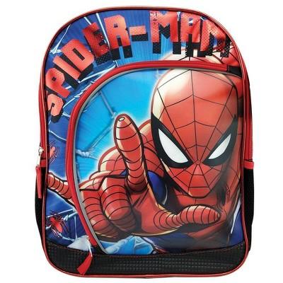 """Marvel Spider-Man 3D Depth 16"""" Kids' Deluxe Backpack - Blue"""