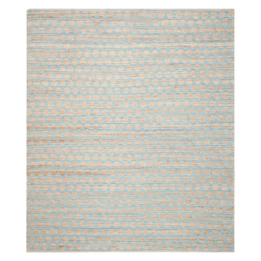 Polka Dots Area Rug Blue/Natural