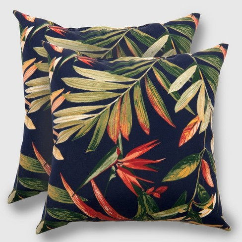 2pk Square Jungle Tropical Outdoor Pillow Threshold Target