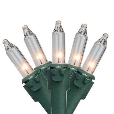 Brite Star 50ct Mini Christmas Lights Clear - 22.75' Green Wire
