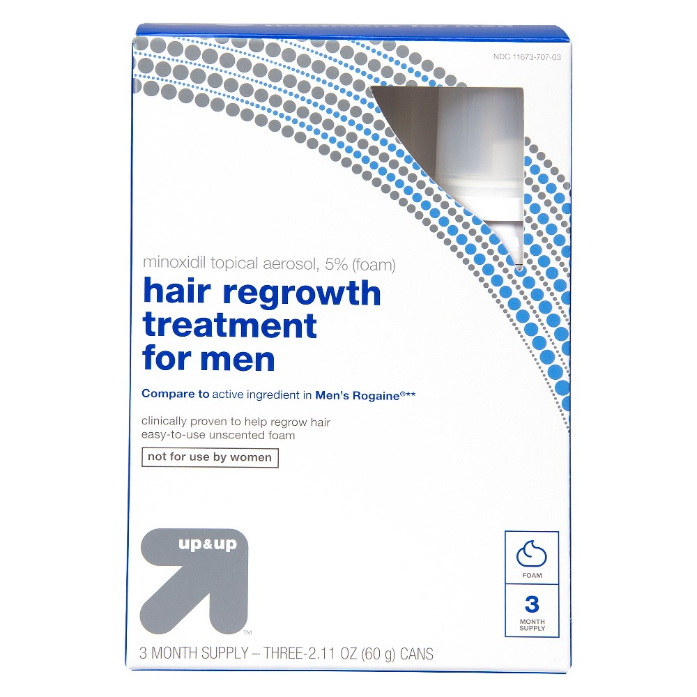 Foam Hair Regrowth Treatment For Men - 6.33oz - Up&Up (Compare to active ingredients in Men's Rogaine)