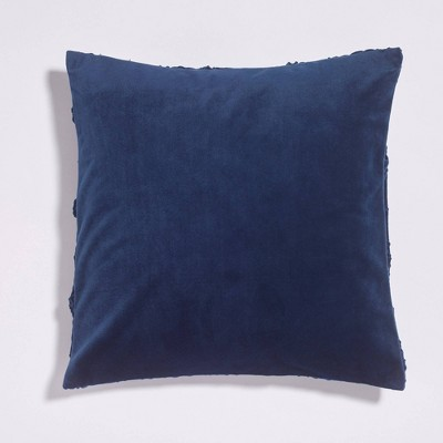 "20""x20"" Pleated Geometric Velvet Reversible Throw Pillow - Sure Fit : Target"
