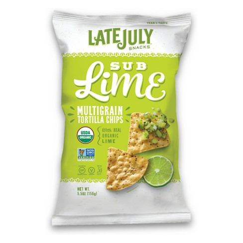 Late July Sub Lime Multigrain Chips - 5.5oz - image 1 of 1