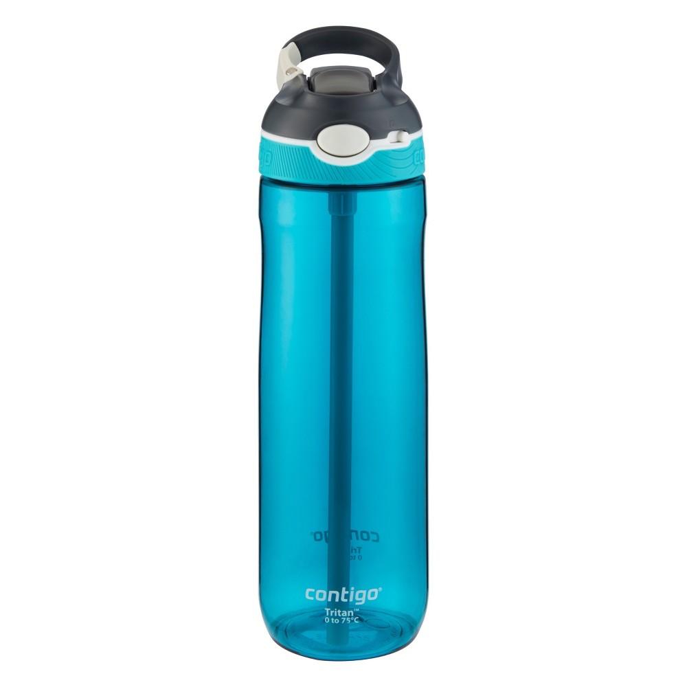 Image of Contigo 24oz Autospout Straw Ashland Water Bottle Scuba Blue