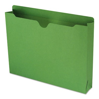 Smead Colored File Jackets w/Reinforced 2-Ply Tab Letter 11pt Green 50/Box 75563
