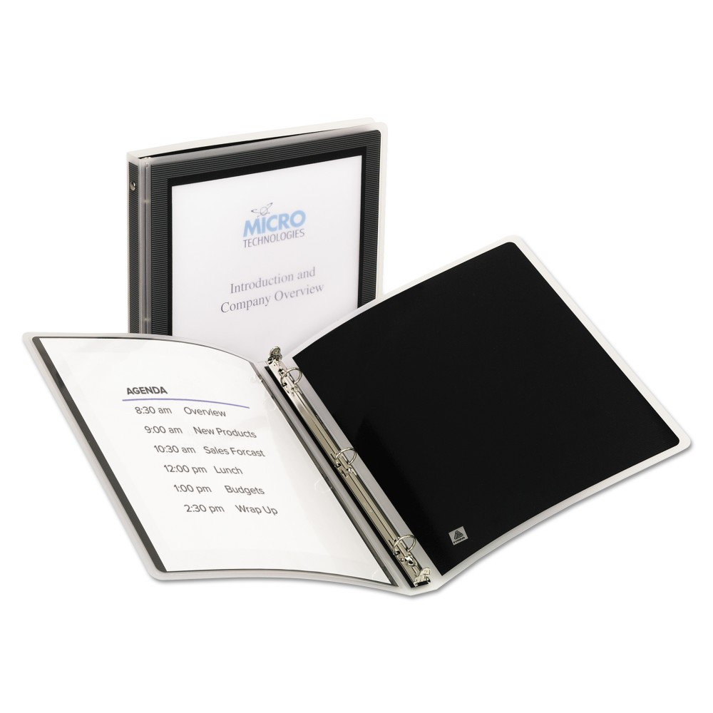 Avery Flexi-View Binder with Round Rings, 11 x 8 1/2, 1/2 Cap, Black