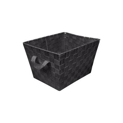 "Simplify Small 10"" Woven Storage Bin Black"