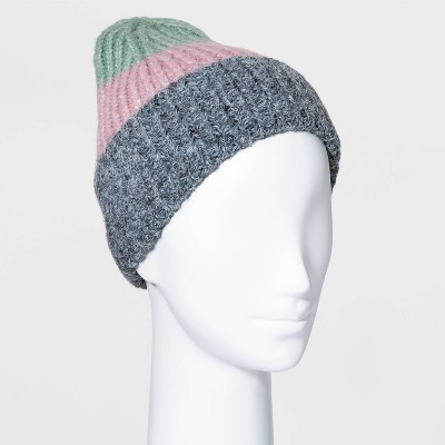 Women's Color Block Beanie - A New Day™