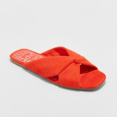 bbc47f81f44 Women s Dv Addie Microsuede Knotted Slide Sandals - Red 5.5   Target
