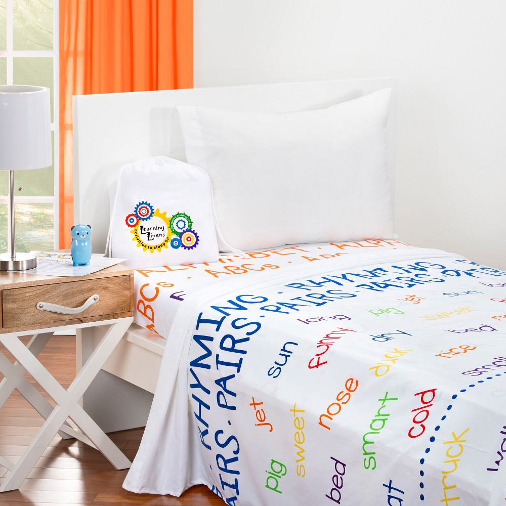 Image of Educational Alphabet Sheet Set (Twin) - Learning Linens