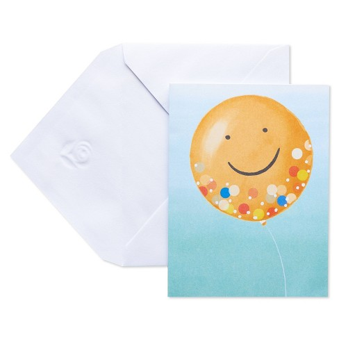 10ct Blank Carlton Cards with Envelopes Smiley Face - image 1 of 4