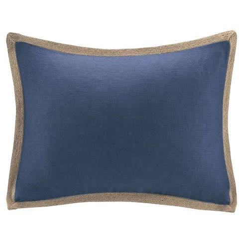 Linen with Jute Trim Throw Pillow - image 1 of 1