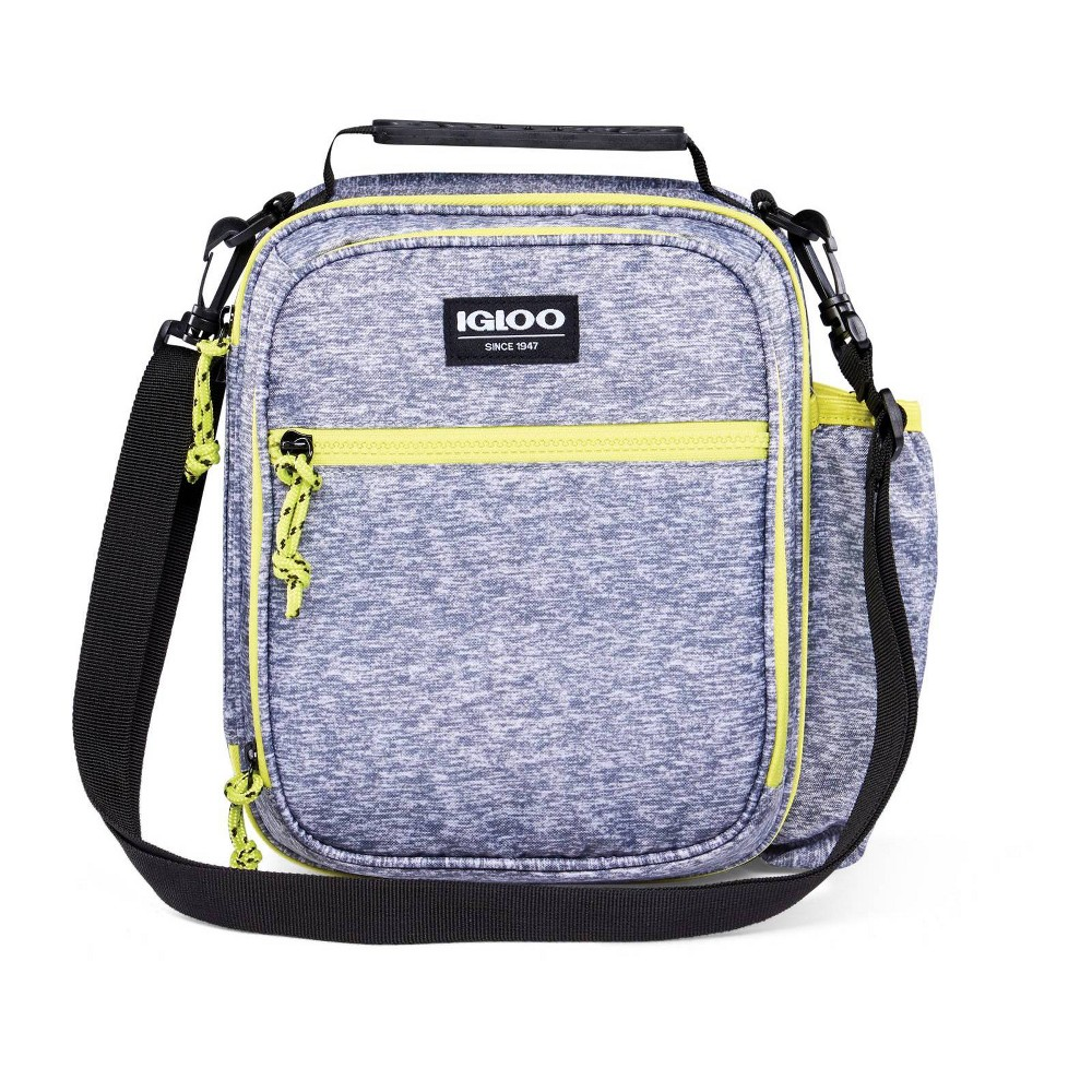 Image of Igloo Active Vertical Lunch Tote - Heather Gray/Volt Yellow