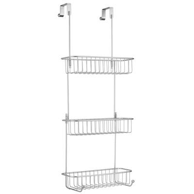 mDesign Metal Over Shower Door Caddy, Bathroom Storage Organizer