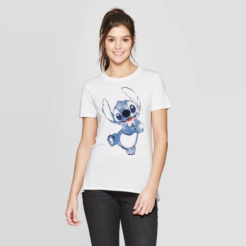 Women's Short Sleeve Stitch Graphic T-Shirt - Modern Lux (Juniors') - White - image 1 of 2