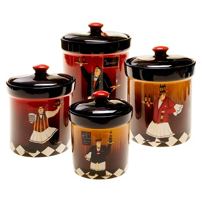 Certified International Bistro Canisters - Set of 4