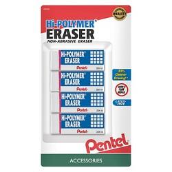 Pentel Hi-Polymer Erasers - 4ct