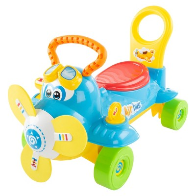 Toy Time Ride-On Airplane - Electronic Toddler Car
