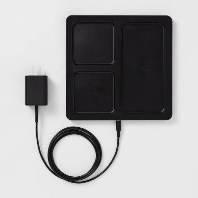 heyday™ 10W Qi Wireless Charging Station (phone/airpod)- Black/Wood