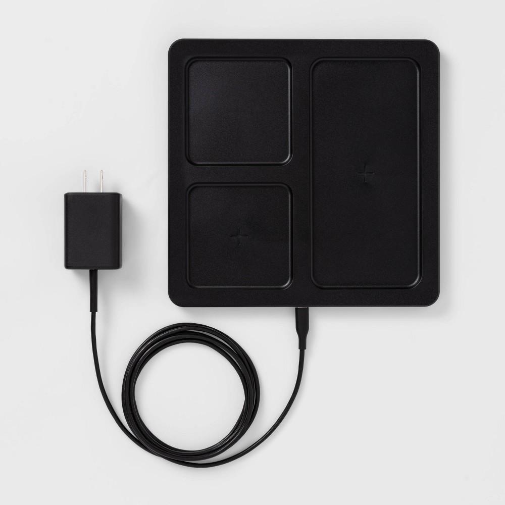 Heyday 8482 10w Qi Wireless Charging Station Phone Airpod Black Wood