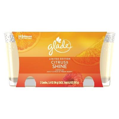 Glade Citrus & Shine Twin Candles - 2pk/6.8oz