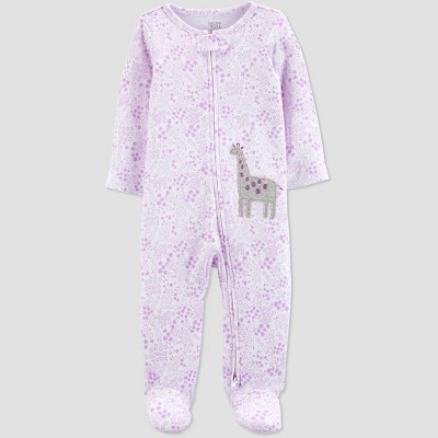 Baby Girls' Floral Giraffe Sleep N' Play - Just One You® made by carter's Purple