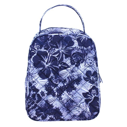 Danielle Morgan Quilted Lunch Bag Black And White Fl