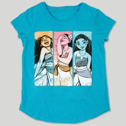c5daeee2 Girls' Disney Moana Short Sleeve T-Shirt - Turquoise : Target