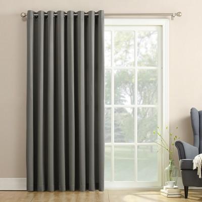 100 x84  Seymour Extra Wide Room Darkening Window Curtain Panel Dark Gray - Sun Zero