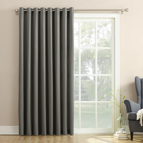 Seymour Extra Wide Room Darkening Sliding Patio Door Curtain Panel