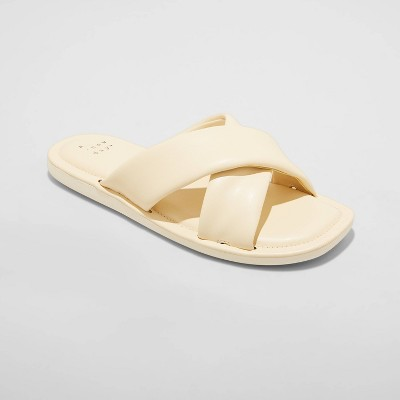 Women's Daisy Crossband Slide Sandals - A New Day™
