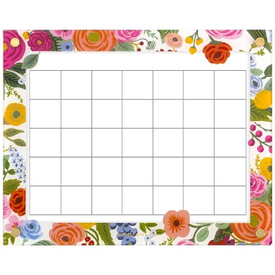 """Horizontal Glass Board Garden Party 15""""x12"""" - Rifle Paper Co. for Quartet"""