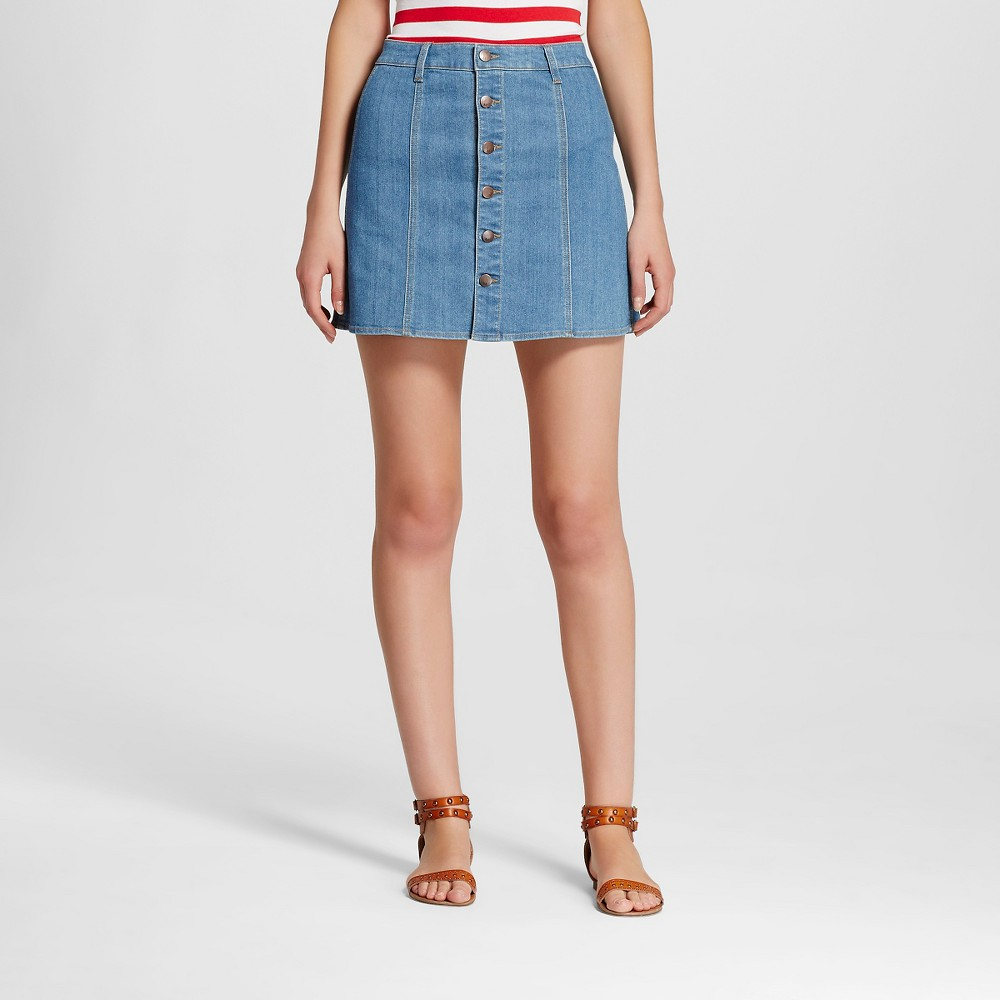 Women's Jean Skirts - Mossimo Medium Denim Wash 2 Women's Jean Skirts - Mossimo Medium Denim Wash 2 Gender: Female. Age Group: Adult. Pattern: Solid. Material: Cotton.