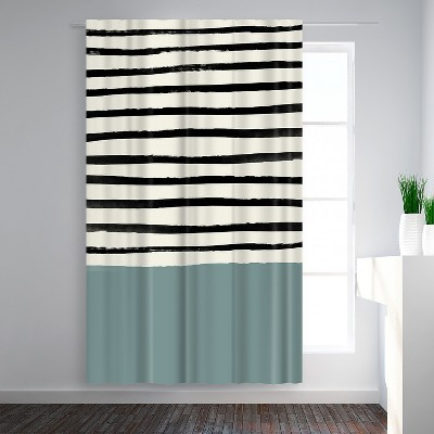 Americanflat River Stone by Leah Flores  Blackout Rod Pocket Single Curtain Panel 50x84