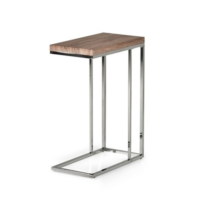 Lucia Chairside End Table Brown - Steve Silver