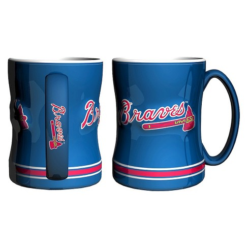 Boelter Brands MLB Atlanta Braves Set of 2 Relief Coffee Mug - 14oz - image 1 of 1