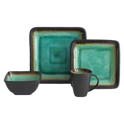 Baum Bros.® Max Stoneware 16pc Dinnerware Set Jade