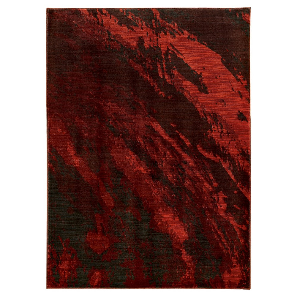 Skye Red Moon Area Rug (5'X8')