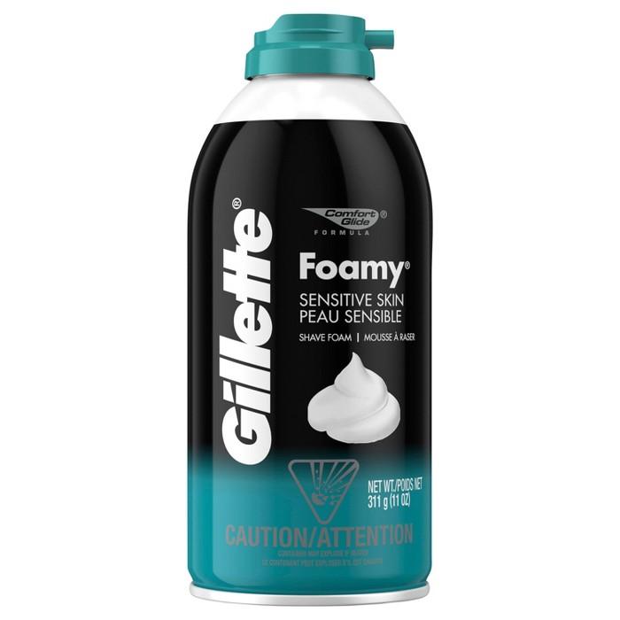 Gillette Foamy Men's Sensitive Shave Cream - 11oz - image 1 of 5