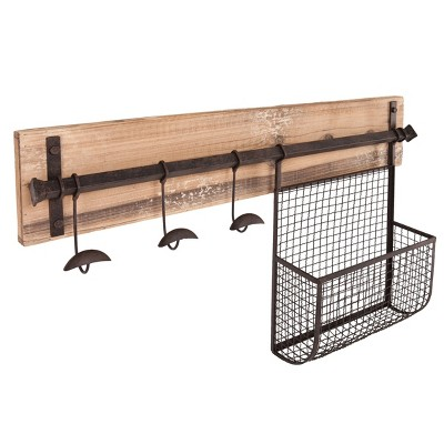 Entryway Wall Mount Storage - Rustic - Aiden Lane