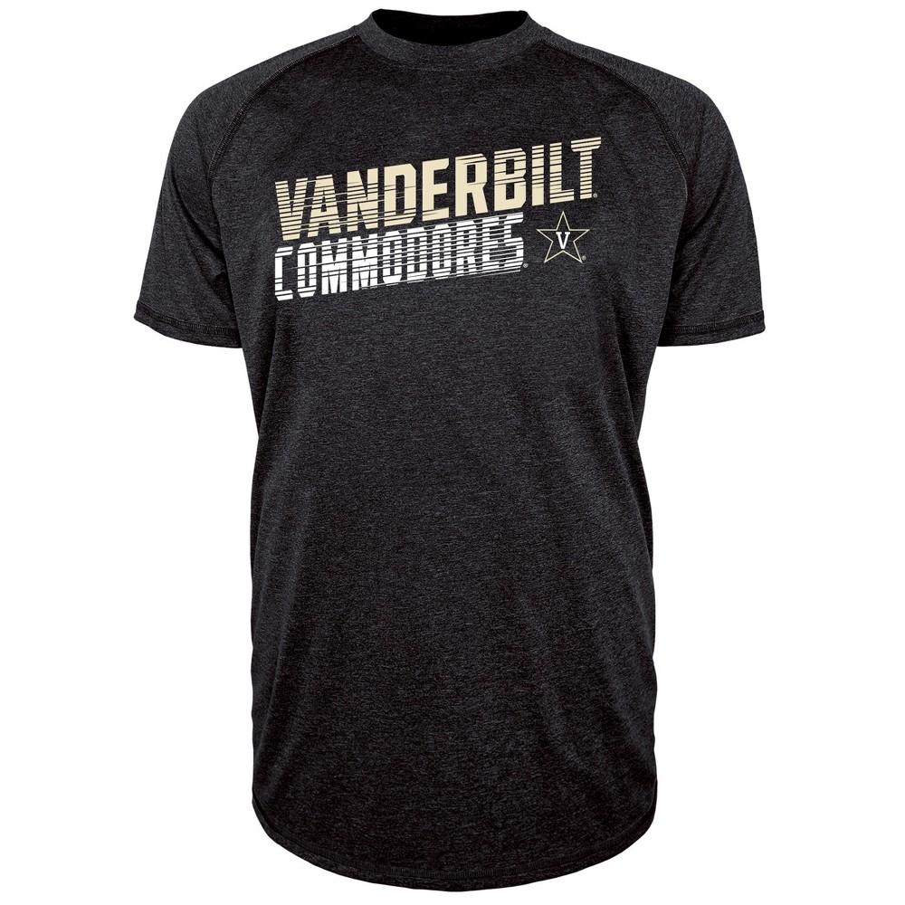 Vanderbilt Commodores Men's Short Sleeve Raglan Performance T-Shirt - L, Multicolored