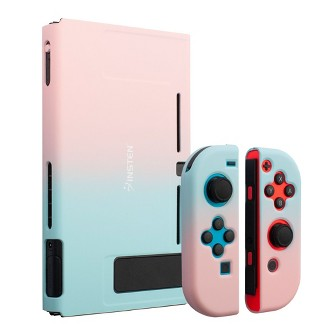 Insten For Nintendo Switch Dockable Protective Hard Case Cover Compatible With Nintendo Switch Console And Joycon, Pink Blue Gradient : Target